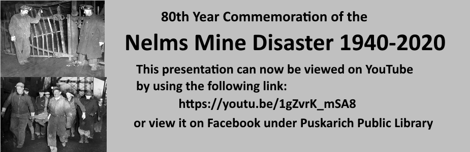 This presentation can now be viewed on YouTube by using the following link: https//youtu.be/1gZvrK_mSA8 or view it on Facebook under Puskarich Public Library.