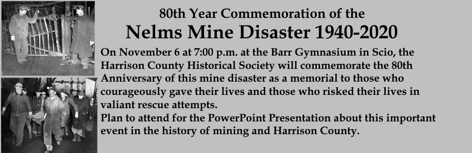 80th Year Commemoration of the Nelms Mine Disaster 1940-2020